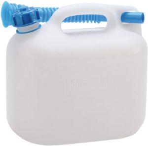hünersdorff Wasserkanister ECO, HD-PE naturfarben, 5 L (mit Rohr)